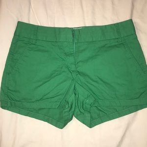 J. Crew Chino Green Shorts